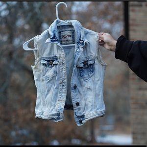 Mudd Jean Jacket Vest